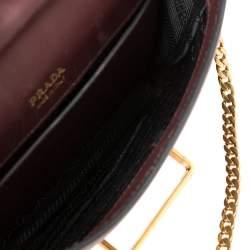 Prada Burgundy/Black Leather Cahier Belt Bag