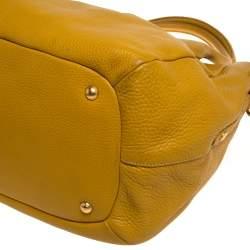 Prada Yellow Vitello Daino Leather Sacca 2 Manici Hobo