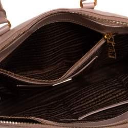 Prada Beige Saffiano Leather Medium Galleria Double Zip Tote