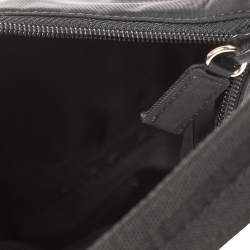 Prada Black Tessuto Nylon Necessaire Pochette Bag