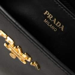 Prada Black Saffiano Lux Leather Tote