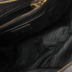 Prada Black Vitello Shine Leather East/West Bag