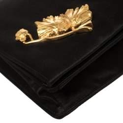 Prada Black Satin Clutch