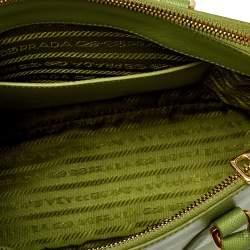 Prada Prato Saffiano Lux Leather Small Double Zip Tote