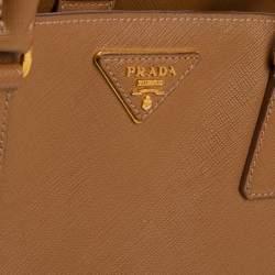 Prada Brown Saffiano Lux Leather Medium Tote
