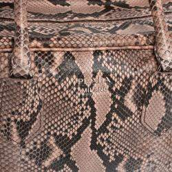 Prada Beige/Pink Python Medium Inside Bag