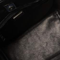 Prada Navy Blue Leather Twin Pocket Tote