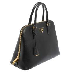 Prada Black Saffiano Leather Large Promenade Satchel