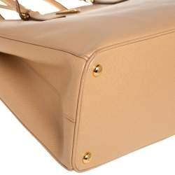 Prada Beige Saffiano Lux Leather Large Galleria Tote
