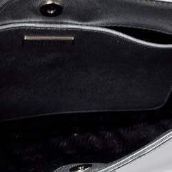 Prada Silver Mirror Leather Cleo Shoulder Bag