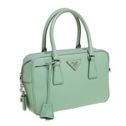 Prada Mint Green Leather Camera Crossbody Bag