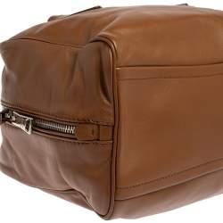 Prada Brown/Turquoise Soft Leather Medium Inside Bag