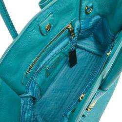Prada Blue Leather Glace Tote Bag