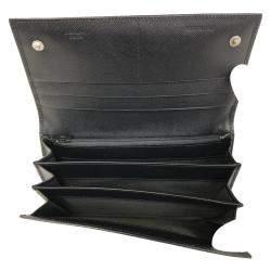 Prada Black Saffiano Leather Long Wallet
