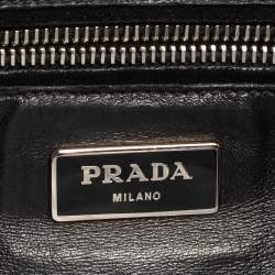 Prada Black Suede Twin Pocket Tote