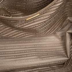 Prada Beige Saffiano Lux Leather Large Gardener's Tote