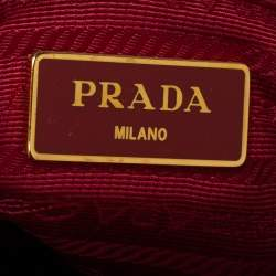 Prada Red Saffiano Lux Leather Mini Galleria Tote
