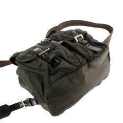 Prada Brown Nylon Tessuto Backpack