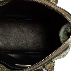 Prada Green Python Mini Promenade Crossbody Bag