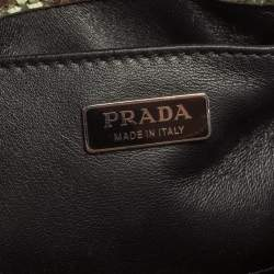 Prada Green Python Mini Promenade Crossbody Bag