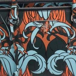 Prada Multicolor Lily Print Saffiano Leather Small Galleria Tote