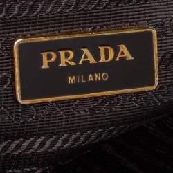 حقيبة يد توتس برادا غاليريا كبيرة جلد سافيانو لوكس رصاصي داكن