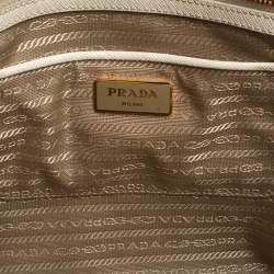 Prada Cream Saffiano Lux Leather Large Galleria Tote