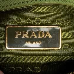 Prada Green Saffiano Leather Galleria Zip Tote