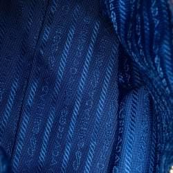Prada Navy Blue Tessuto Nylon And Leather Tote