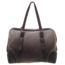 Prada Grey Ombre Glace Calf Leather Tote