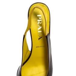 Prada Two Tone Slingback Open Toe Sandals Size 38.5