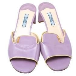 Prada Purple Patent Leather Open Toe Sandals Size 37.5