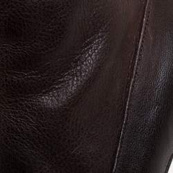 Prada Brown Leather Boots Size 38