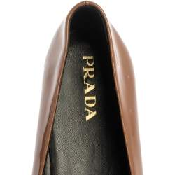 Prada Two Tone Patent Leather Bow Ballet Flats Size 37.5