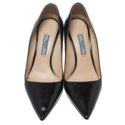 Prada Black Leather Pointed Toe Pumps Size 36