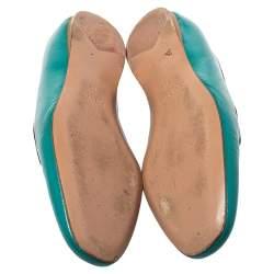 Prada Blue  Patent Leather Saffiano Smoking Slipper Loafers Size 38