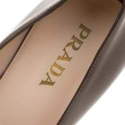 Prada Brown Patent Leather Pumps Size 36.5