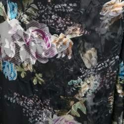 Preen By Thornton Bregazzi Floral Print Devore Chiffon Adria Maxi Wrap Skirt S