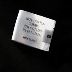Proenza Schouler Black Cotton Pleated Button Front A Line Dress M