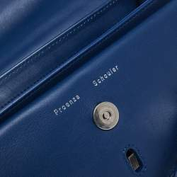 Proenza Schouler Blue Leather Mini Classic PS11 Shoulder Bag