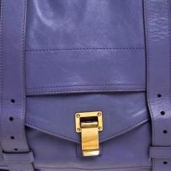 Proenza Schouler Purple Leather Large PS1 Top Handle Bag