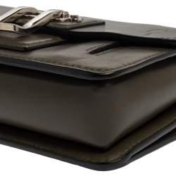 Proenza Schouler Green Leather Hava Chain Crossbody Bag
