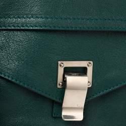 Proenza Schouler Green Leather Medium PS1 Top Handle Bag