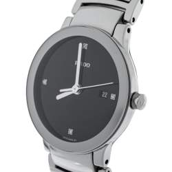 Rado Black Stainless Steel Diamond Centrix 111.0928.3 Women's Wristwatch 28 mm