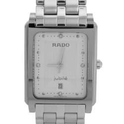 Rado Silver White Stainless Steel Tungsten Carbide Diastar 129.0563.3 Women's Wristwatch 25.50 mm