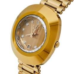 Rado Champagne Yellow Gold Tone Stainless Steel R12306303 DiaStar Quartz Women's Wristwatch 28MM