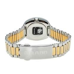 Rado Gold Tungsten Carbide & Two Tone Stainless Steel DiaStar R12307304 Women's Wristwatch 27 mm