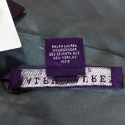 Ralph Lauren Collection Sage Green Ruffled Sleeve Blouse S