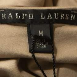 Ralph Lauren Khaki Jersey Sleeveless Jenny Maxi Dress M