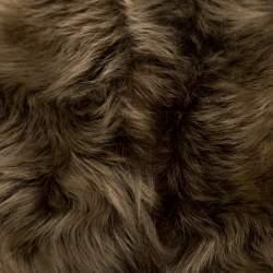Ralph Lauren Brown Wool and Angora Knit Fur Panel Detail Zip Front Jacket XS